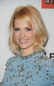 January Jones attended PaleyFest 2012 wearing a pale rosy pink shade of lipstick.