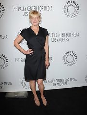 Martha dons a little black wrap dress for the Raising Hope event in Beverly Hills.