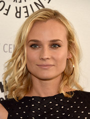 Diane Kruger wore her blond locks in piecey waves during the 'Bridge' presentation.
