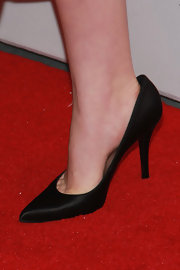 Kiernan Shipka chose classic black pumps for her look at the red carpet screening of 'Mad Men.'