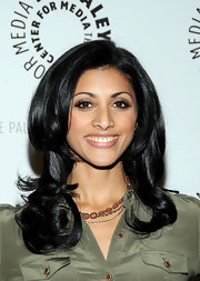 Reshma Shetty showed off her layered shoulder length cut, while hitting The Paley Center for Media.