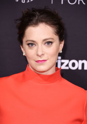 Rachel Bloom attended the Paley Honors: Celebrating Women in Television event wearing a messy-chic updo.
