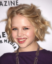 Sofia Vassilieva's lips shined in glassy lipgloss.