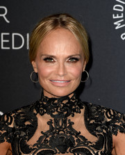 Kristin Chenoweth wore her hair in a center-parted ponytail at PaleyLive LA.