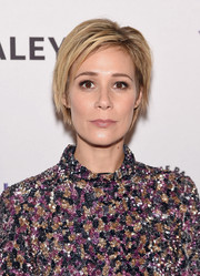 Liza Weil looked cool wearing this layered razor cut during PaleyLive NY.