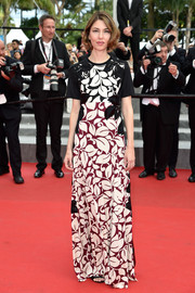 Sofia Coppola was spring-glam in a leaf-print gown by Marc Jacobs during the Cannes Film Festival.