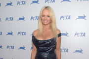 Pamela Anderson Off-the-Shoulder Dress