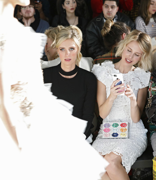 More Pics of Nicky Hilton Peplum Top (1 of 13) - Tops Lookbook - StyleBistro [fashion,beauty,hairstyle,lady,fashion design,haute couture,fashion model,event,runway,blond,pamella roland,nicky hilton,front row,new york city,pier 59,new york fashion week,fashion show]