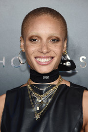 Adwoa Aboah looked cool and edgy with her buzzcut at the premiere of 'Ghost in the Shell.'