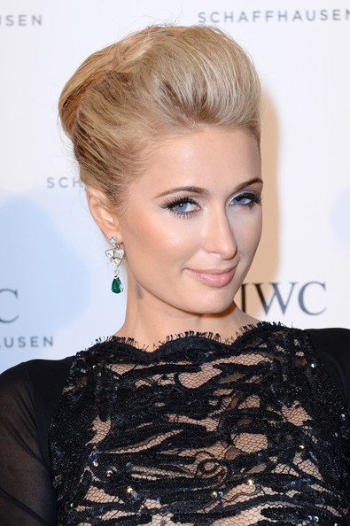 Paris Hilton Bobby Pinned Updo