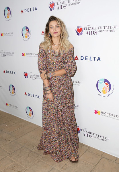 Paris Jackson Off-the-Shoulder Dress