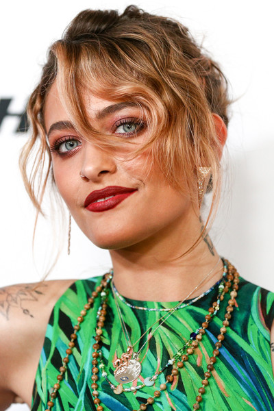 Paris Jackson Messy Updo