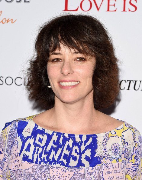 Parker Posey Short Cut With Bangs [sony pictures classics with the cinema society grey goose host a special screening of ``love is strange,love is strange,hair,hairstyle,eyebrow,chin,lip,brown hair,shoulder,long hair,smile,premiere,arrivals,parker posey,screening,tribeca grand hotel,new york city,sony pictures classics,the cinema society grey goose]