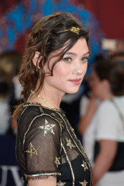 Astrid Berges Frisbey looked like a fairytale princess with her loose braid at the Deauville American Film Fest premiere of 'Pasolini.'