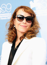 Noomi Rapace attended the 'Passion' photocall looking classic and chic in her cateye sunnies.