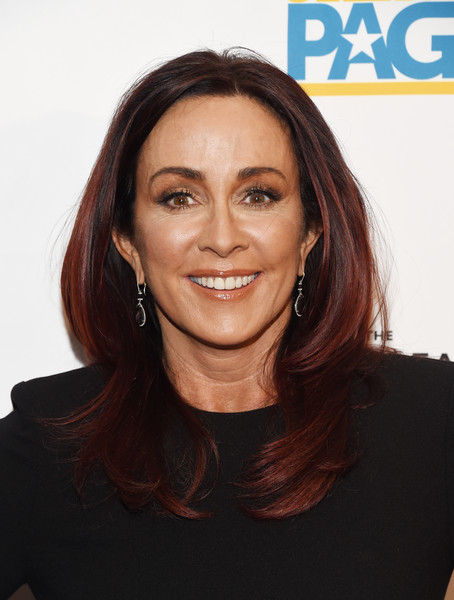 Patricia Heaton Layered Cut [hair,face,hairstyle,eyebrow,chin,skin,beauty,lip,forehead,brown,arrivals,patricia heaton,sofitel los angeles,california,beverly hills,creative coalition,television industry advocacy awards]