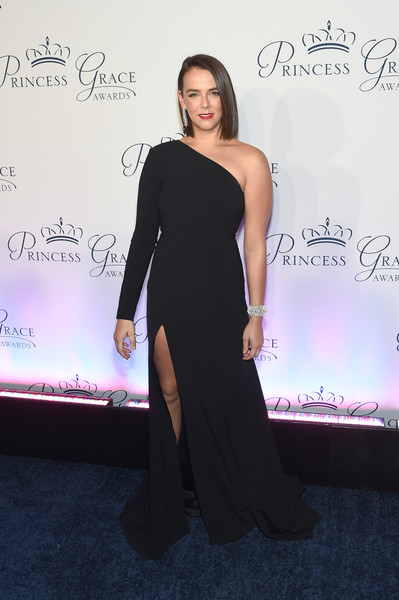 Pauline Ducruet One Shoulder Dress [shoulder,clothing,dress,fashion,joint,little black dress,carpet,neck,cocktail dress,gown,arrivals,pauline ducruet,new york city,cipriani 25 broadway,princess grace awards,princess grace awards gala]