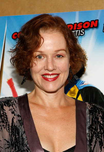 Penelope Ann Miller Curled Out Bob [free style,hair,hairstyle,ringlet,lip,premiere,brown hair,feathered hair,long hair,smile,penelope ann miller,chelsea clearview cinema,new york city,premiere]