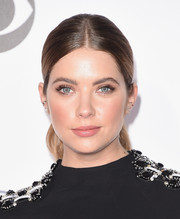 Ashley Benson attended the People's Choice Awards wearing her hair in a sleek center-parted ponytail.