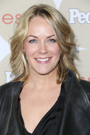 Andrea Anders styled her hair with feathered waves for People's Ones to Watch party.