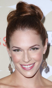 Amanda Righetti attended People's Ones to Watch party looking fab with her hair knot.