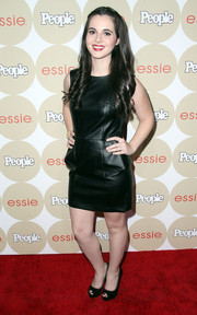 Vanessa Marano rocked a stylish leather LBD at the Ones to Watch party.