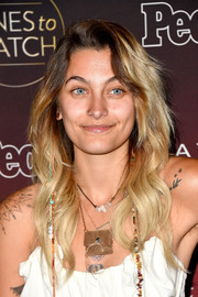 Paris Jackson wore her hair down in a boho wavy style when she attended People's Ones to Watch event.