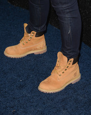Maddie Hasson attended the People StyleWatch Denim Awards looking rugged in her lace-up boots.