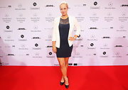 Sabine Lisicki's platform pumps were a classic finish to her LBD.