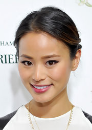 Jamie's pinned 'do gave her a soft and elegant look while at the launch of 'Kitchen Revelry.'