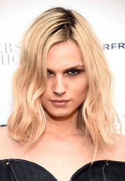 Andreja Pejic framed her face with shoulder-length waves for the New York premiere of 'Personal Shopper.'