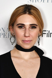 Zosia Mamet pulled her hair back into a loose, center-parted ponytail for the New York premiere of 'Personal Shopper.'