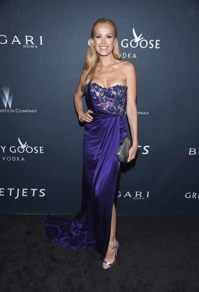 Petra Nemcova Metallic Clutch