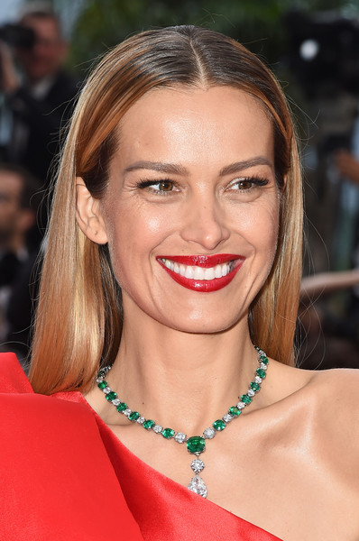 Petra Nemcova Long Straight Cut [hair,face,lip,eyebrow,hairstyle,blond,skin,beauty,chin,smile,petra nemcova,screening,le belle epoque,cannes,france,red carpet,the 72nd annual cannes film festival]