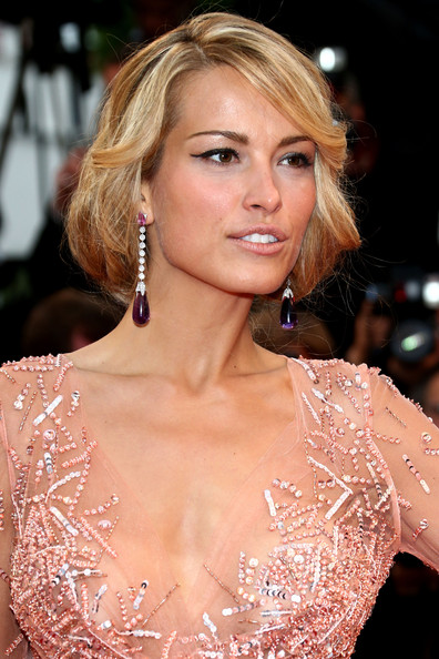 Petra Nemcova Cat Eyes [all is lost premiere - the 66th annual cannes film festival,hair,hairstyle,blond,eyebrow,lip,shoulder,beauty,chin,long hair,premiere,petra nemcova,cannes,france,palais des festivals,cannes film festival]
