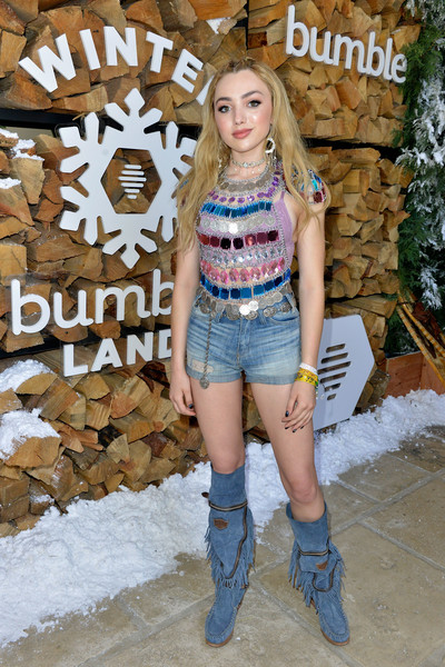 Peyton List Knee High Boots [winter bumbleland,clothing,jean short,jeans,fashion,denim,cowboy boot,beauty,footwear,street fashion,blond,rancho mirage,california,peyton list]