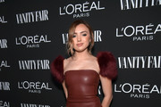 Peyton List Leather Dress