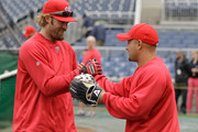 Shane Victorino;Jayson Werth Photo