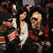 Tyga, Kylie Jenner and Madonna at Philipp Plein
