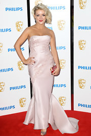 Sheridan Smith was stunning in a pink beaded evening dress at the Philips British Television Awards.
