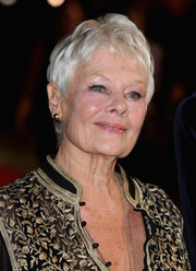 Judi Dench stuck to her signature pixie at the BFI London Film Festival screening of 'Philomena.'