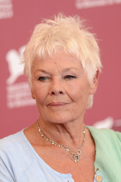 More Pics of Judi Dench Messy Cut (1 of 35) - Short Hairstyles Lookbook - StyleBistro [photocall - the 70th venice international film festival,hair,face,skin,wrinkle,chin,head,blond,hairstyle,pink,forehead,dame judi dench,philomenia,venice,italy,palazzo del casino,philomenia photocall,70th venice international film festival]