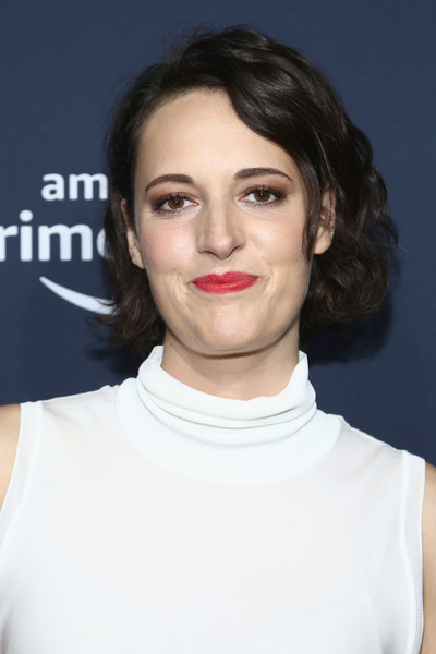 Phoebe Waller-Bridge Curled Out Bob [prime experience hosts,hair,face,lip,eyebrow,hairstyle,chin,skin,cheek,head,shoulder,phoebe waller-bridge,fyc screening and panel,screening,amazon prime experience,hollywood athletic club,california,amazon,panel,fyc]