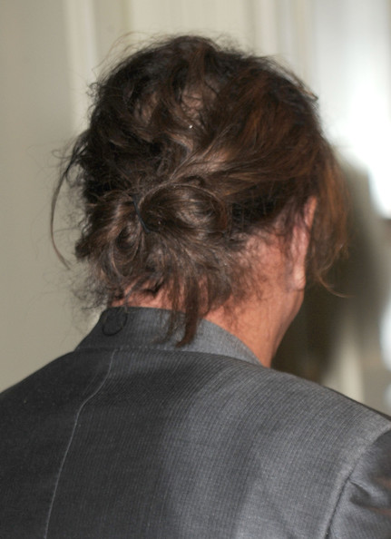 More Pics of Mickey Rourke Messy Updo (1 of 19) - Updos Lookbook - StyleBistro