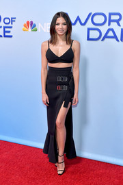 Jenna Dewan-Tatum rocked a black David Koma bra at the photo op for 'World of Dance.'