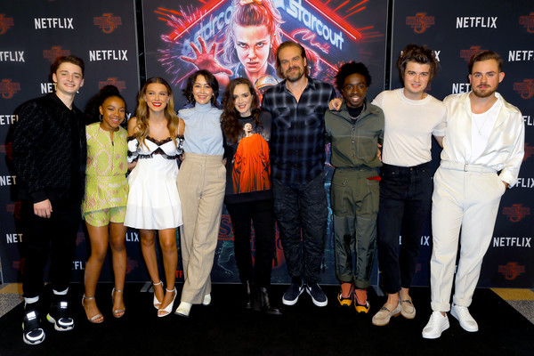 More Pics of Millie Bobby Brown Strappy Sandals (1 of 6) - Millie Bobby Brown Lookbook - StyleBistro [season,stranger things,event,premiere,performance,priah ferguson,noah schnapp,joe keery,david harbour,photocall,photocall,l-r,netflix]