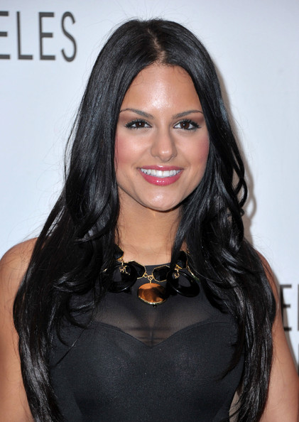 Pia Toscano Black Statement Necklace [american idol,hair,hairstyle,face,black hair,eyebrow,long hair,shoulder,lip,beauty,chin,pia toscano,beverly hills,california,saban theater,paley center for media,paleyfest 2011 event,event]
