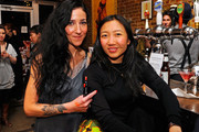 (L-R) Make up artist Tina Turnbow and Marie Claire Beauty Director Ying Chu attend the Pin-Up Beauty Hosted By Make Up For Ever event at Nurse Bettie on March 29, 2011 in New York City.