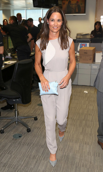 Pippa Middleton Pumps [white,clothing,fashion,shoulder,footwear,fashion design,jeans,event,leg,trousers,canary wharf,london,england,bgc annual global charity day,pippa middleton]