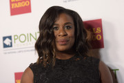 Uzo Aduba sported lovely shoulder-length waves at the Point Honors Gala.